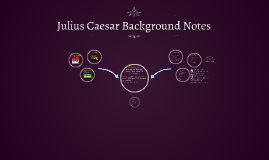 Julius Caesar Background Notes
