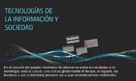 TECNOLOGÍAS DE LA INFORMACIÓN Y SOCIEDAD