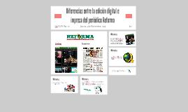 Diferencias entre la edición digital e impresa del periódico