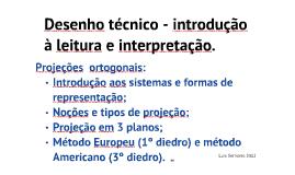 Desenho Técnico - Introdução à leitura e interpretação