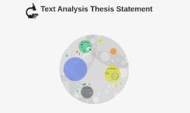Text Analysis Thesis Statement