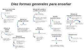 Diez formas generales para enseñar