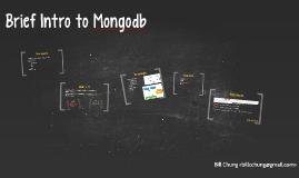 Brief intro to mongodb