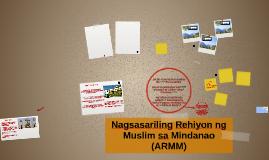 Nagsasariling Rehiyon ng Muslim sa Mindanao