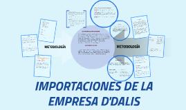 IMPORTACIONES DE LA EMPRESA D'DALIS
