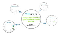 Testy bezpieczeństwa aplikacji WWW - dobre praktyki