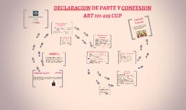 DECLARACION DE PARTE Y CONFESION