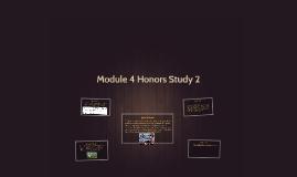Module 4 Honors Study 2