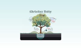 Ecumenism and The Ecumenical Movement