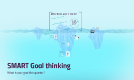 SMART Goal thinking