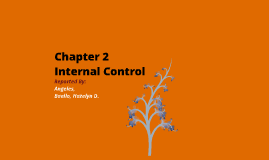 Chapter 2 - Internal Control