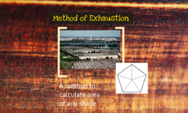 method of exhaustion