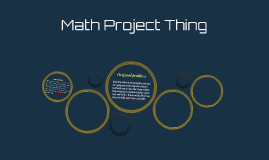 Math Project Thing