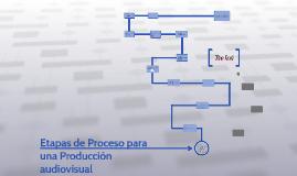 Etapas de Proceso para una Produccion audiovisual
