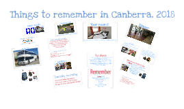 Last minute Reminders Canberra 2018