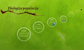 Ekologija populacije