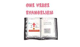 Copy of ONE VERSE EVANGELISM