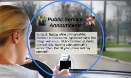 Public Service Announcemt