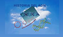 Historia del ADN