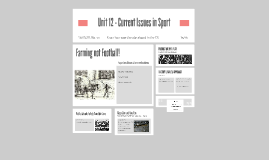 Copy of Copy of Unit 12 - Current Issues in Sport
