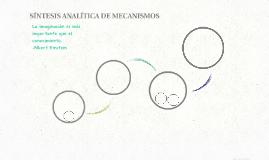 SÍNTESIS ANALÍTICA DE MECANISMOS