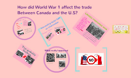 How did World War 1 effect the trade