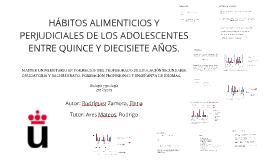 HÁBITOS ALIMETICIOS Y PERJUDICIALES DE LOS ADOLESCENTES ENTR