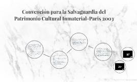 Convención para la Salvaguardia del Patrimonio Cultural Inma