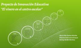 Copy of Proyecto de Innovación Educativa