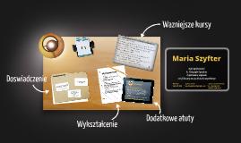 Desktop Prezumé by Maria Szyfter