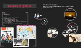 L'enjeu énergétique