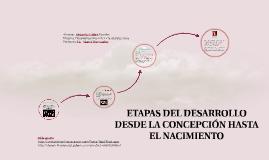 ETAPAS DEL DESARROLLO  DESDE LA CONCEPTION HASTA EL NACIMIEN