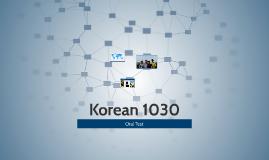 Korean 1030