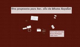 Una propuesta para 3° año de Idioma Español