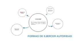 FORMAS DE EJERCER AUTORIDAD