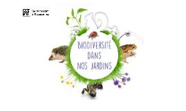Biodiversité dans nos jardins