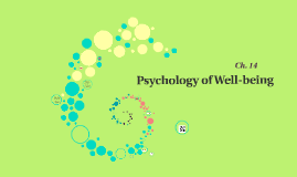 Ch. 14-Subjective Well Being