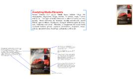 Analyzing Media Elements: Lexus RC F magazine advertisement