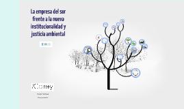 Copy of La empresa del sur frente a la nueva institucionalidad y justicia ambiental