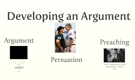 Argument vs Preaching