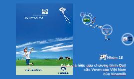 Copy of Đánh giá hiệu quả của chương trình Quỹ sữa Vươn cao Việt Nam