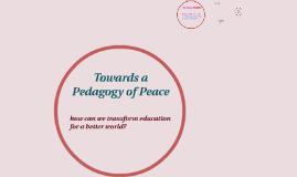 Towards a Pedagogy of Peace 2014 #2
