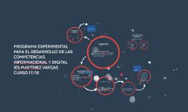 Copy of PROGRAMA EXPERIMENTAL PARA EL DESARROLLO DE LAS COMPETENCIAS