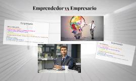 Emprendedor vs Empresario
