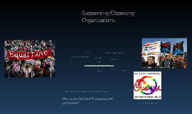 Supporting/ Opposing Organizations