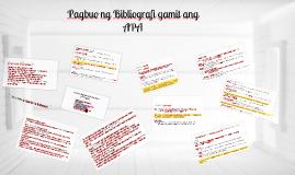 Copy of Copy of Pagbuo ng Bibliografi(APA Format)