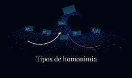 Tipos de Homonimia