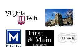 Virginia Tech Real Estate Presentation