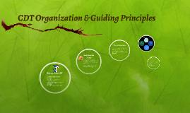CDT Organization & Guiding Principles