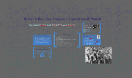 Hitler's Policies Towards Education & Youth
